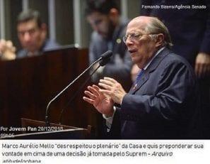 Marco Aurélio Mello desrespeitou o plenário e 'tiro saiu pela culatra', diz Reale Jr