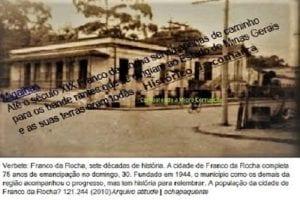 Franco da Rocha servia apenas de caminho para os bandeirantes que se dirigiam ao Estado de Minas Gerais