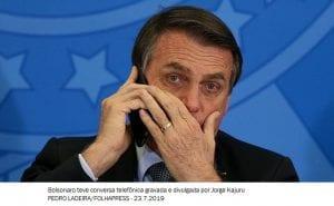 'Fui traído', diz Bolsonaro sobre vazamento de conversa telefônica