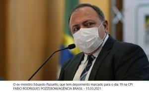 AGU entra com ação no STF para blindar Pazuello na CPI da Covid