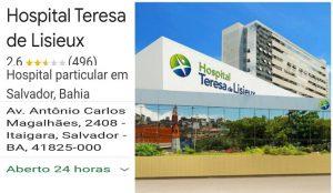 Salvador Bahia Denúncia de crimes de maus tratos, negligências medica – Hospital Particular Teresa de Liseux.