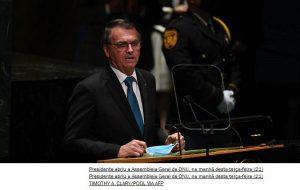 Na ONU, Bolsonaro garante vacinação total até novembro