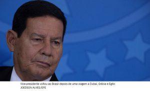 'CPI da Covid-19 já se arrastou bastante tempo', diz Mourão