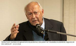 Jurista nega que Bolsonaro tenha cometido crimes na pandemia