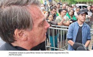 Bolsonaro chega a MG para inaugurar obras de infraestrutura