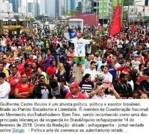 """Guilherme Boulos, o chefão do MTST, é o """"Califa de São Paulo"""""""