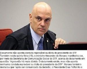 Ministro Alexandre de Moraes reestabelece circulação de matérias, refuta tese de censura e mantém inquérito