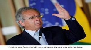 Guedes: Relações com EUA seguem com eventual vitória de Biden