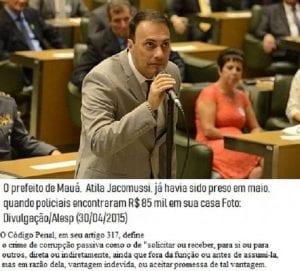 PF prende prefeito e investiga 22 dos 23 vereadores de Mauá por corrupção na merenda