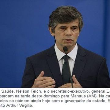 Ministro da Saúde embarca para Manaus neste domingo